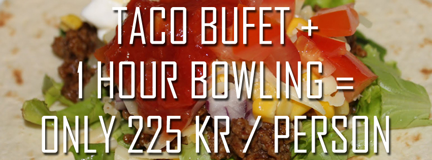 Taco buffet and bowling